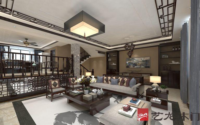 艺龙别墅装修:说说客厅下沉式设计的利与弊图片