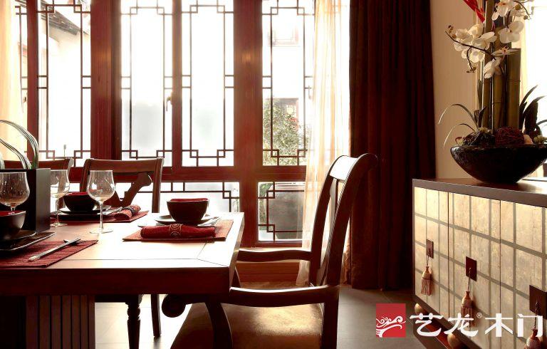 艺龙木门:中式装修效果图 典雅之中有清欢